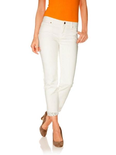 Sehr schöne heine offwhite Damen Jeans Modischer Allrounder