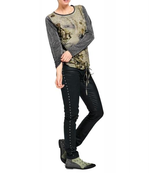 Damen heine CASUAL Druckshirt mit Applikationen GR. 34