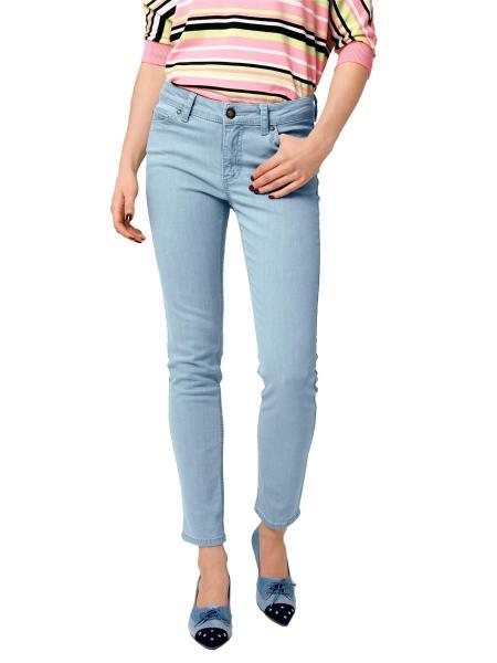 Damen Jeans mit Kontraststeppung gesteppte Klappen-Potaschen GR. 36