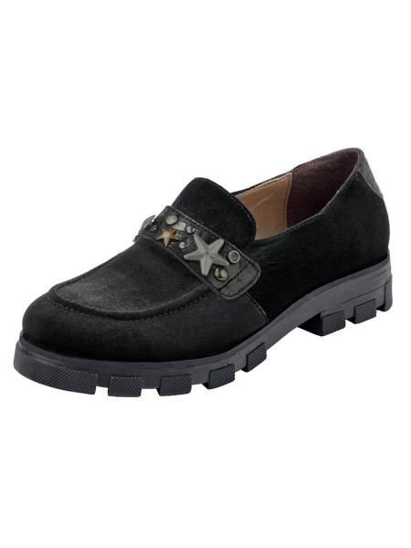 XYXYX Slipper Faux Damen Schuhe schwarz