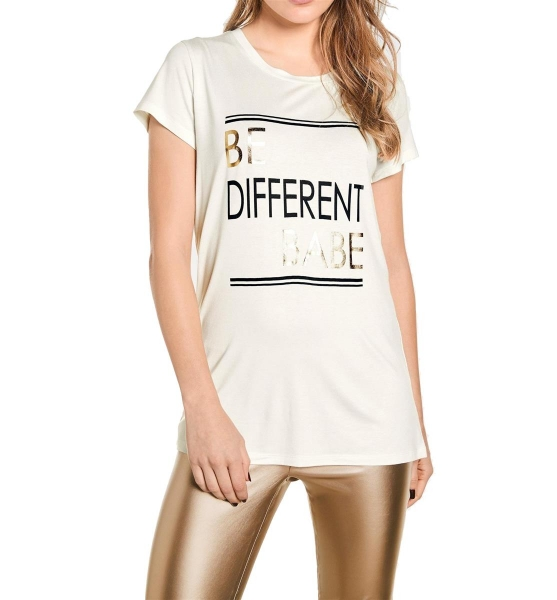 Damen Druckshirt mit Trendstarker Print Figurbetonte Form GR. 40 / L